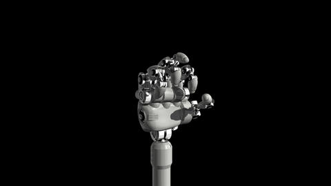 Robotic Hand OK Stock Video Footage