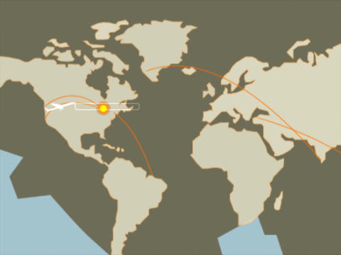 World Map Fly Stock Video Footage