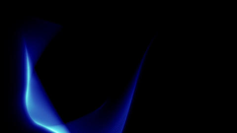 Blue 3D Light Wave with alpha Stock Video Footage