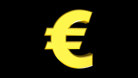Euro (Bold) Stock Video Footage
