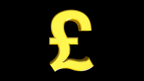 Pound Sterling (Bold) Stock Video Footage