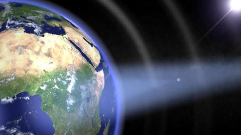 Satellites orbiting. Loop Stock Video Footage