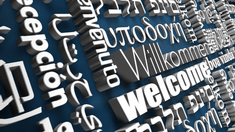3D International Welcome Stock Video Footage