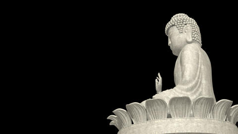 Low Angle Buddha on lotus wheel CG動画素材