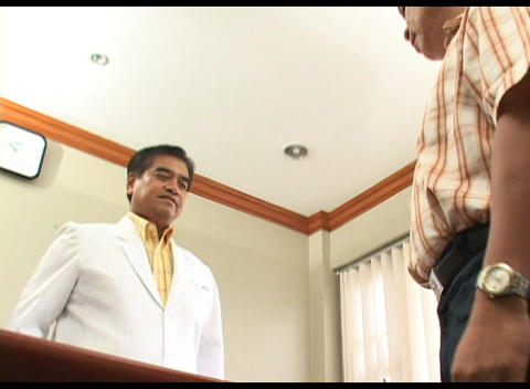 Doctor Shaking Hand with the Patient Stock Video Footage