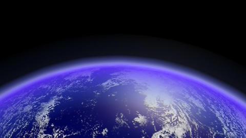 Fast Earth Orbiting Horizon. Loop Stock Video Footage