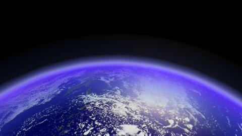 Fast Earth Orbiting Horizon. Loop Animation
