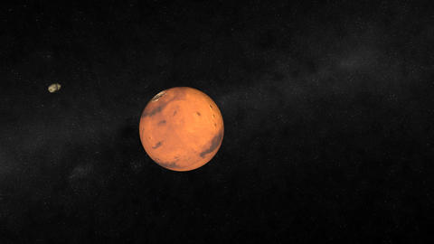 Mars Flyby Stock Video Footage