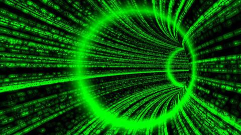 Matrix like Tunnel. Loop Stock Video Footage