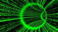 Matrix Like Tunnel. Loop stock footage