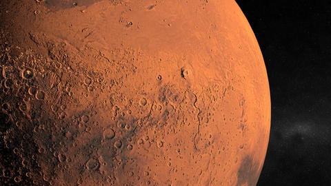 Entering Mars Orbit Stock Video Footage