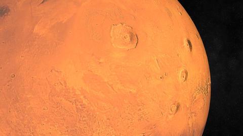 Entering Mars Orbit Stock Video Footage