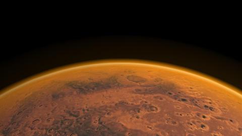 Flight over Mars Stock Video Footage