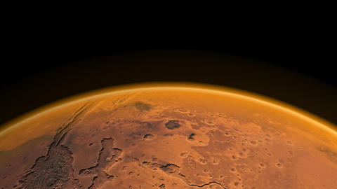 Flight over Mars Stock Video Footage