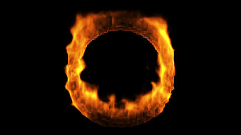 Ring of Fire, Alpha Stock Video Footage