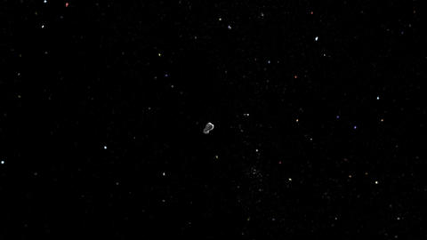 Asteroid enters atmosphere Stock Video Footage