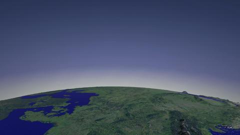 Flight over Europe Stock Video Footage