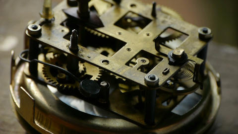 internal structure of Watch,bearings,gears Footage