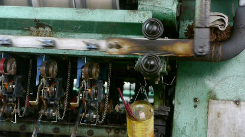 Reeling machine and Textile machine in... Stock Video Footage