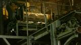 Silkworm cocoon at silk factory.reeling at workshop Footage