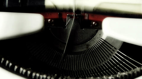 Hands typing on a typewriter to play the characters I... Stock Video Footage