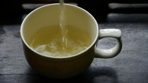 Teapot pouring tea,ancient customs of leisure.china,water Stock Video Footage