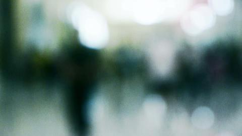 fuzzy pedestrian silhouette Stock Video Footage