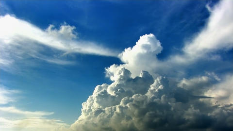 Cumulus clouds time lapse hdr Stock Video Footage