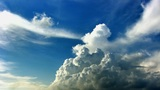 Cumulus clouds time lapse hdr Footage