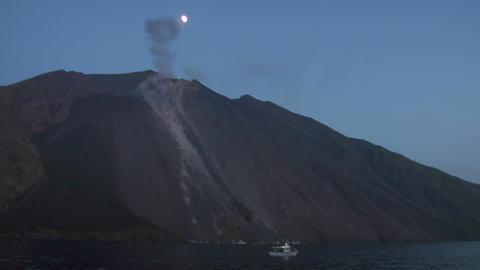 Stromboli eruption 04 Stock Video Footage