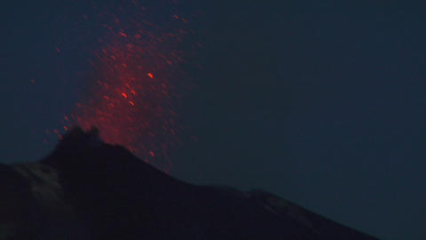 Stromboli eruption 06 Stock Video Footage