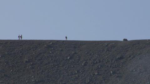 volcano tourist 04 Stock Video Footage