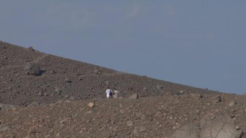 volcano tourist 06 Stock Video Footage