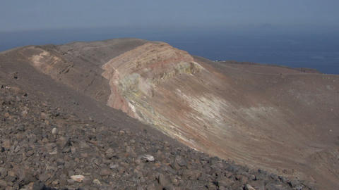 Vulcano crater 02 Stock Video Footage