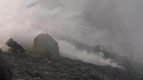 Vulcano fumarole 03 Stock Video Footage