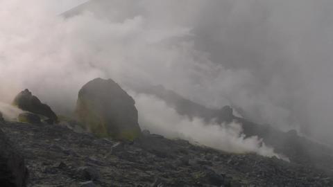 Vulcano fumarole 03 Stock Video Footage