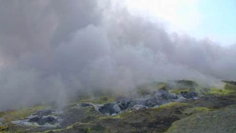Vulcano fumarole 05 Stock Video Footage