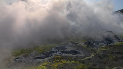 Vulcano fumarole 07 Stock Video Footage
