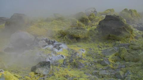 Vulcano fumarole 09 Stock Video Footage