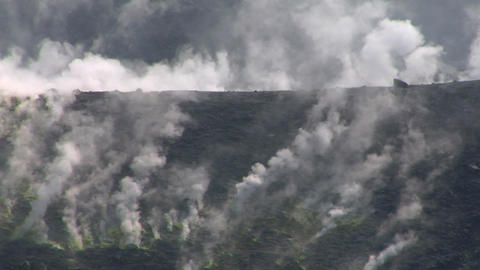 Vulcano fumarole 11 Stock Video Footage