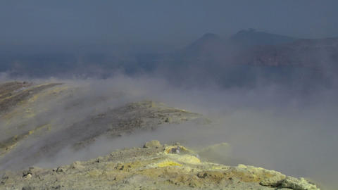 Vulcano fumarole 17 Stock Video Footage