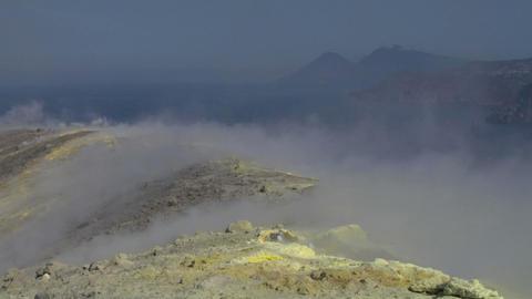 Vulcano fumarole 17 Stock Video Footage