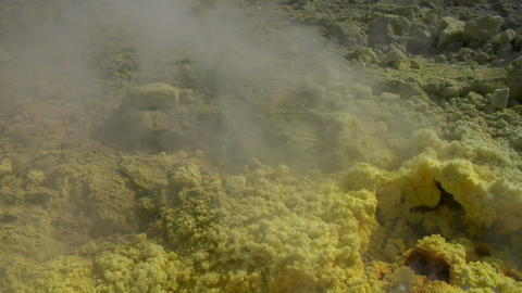 Vulcano fumarole close up 05 Stock Video Footage