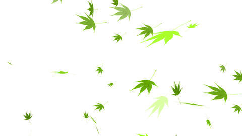 HD Loopable Falling Autumn Leaves Animation Stock Video Footage