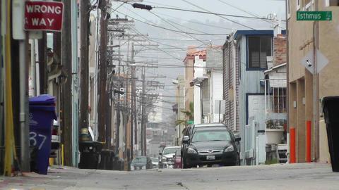 Backstreet Alley 03 heat mirage Stock Video Footage