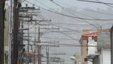Backstreet Alley 04 electric poles heat mirage Footage