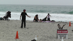Beach in California 01 Stock Video Footage