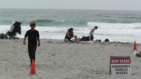 Beach in California 01 Footage
