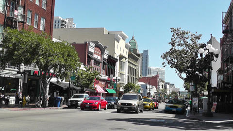San Diego Downtown 01 Stock Video Footage