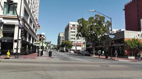 San Diego Downtown 03 Stock Video Footage